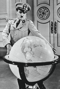 Chaplin in The Great Dictator
