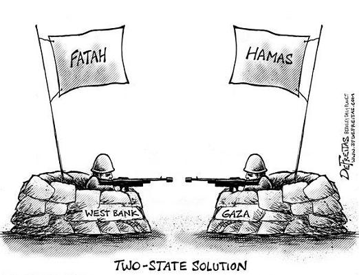 Hamas, Fatah battle for control of Palestine.