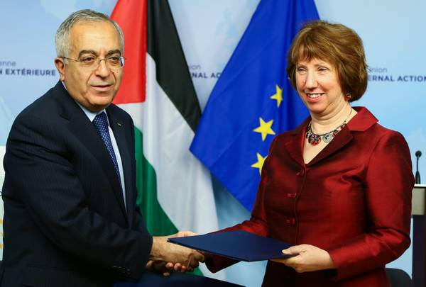 Palestinian Prime Minister Salam Fayyad in Brussels