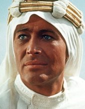 Peter O'Toole als Lawrence of Arabië