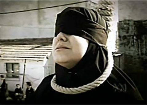 A-woman-before-hanging-in-Iran