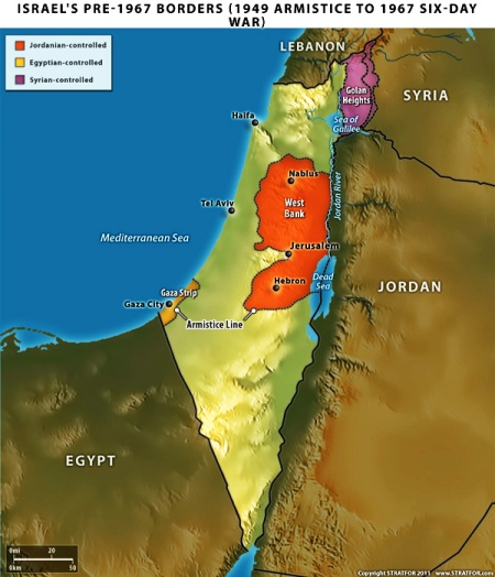 israel-pre-1967-borders-1949-armistice-day-six-day-war